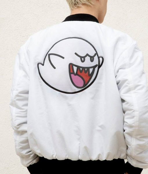 Super Mario Boo Bomber Jacket