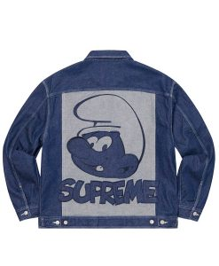 Supreme Smurfs Denim Trucker Jacket