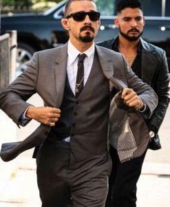 The Tax Collector Shia Labeouf Grey vest