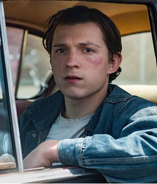 Tom Holland The Devil All the Time Arvin Russell Denim Jacket