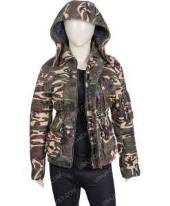 Wynonna Earp S04 Nicole Haught Camo Print Jacket With Hood