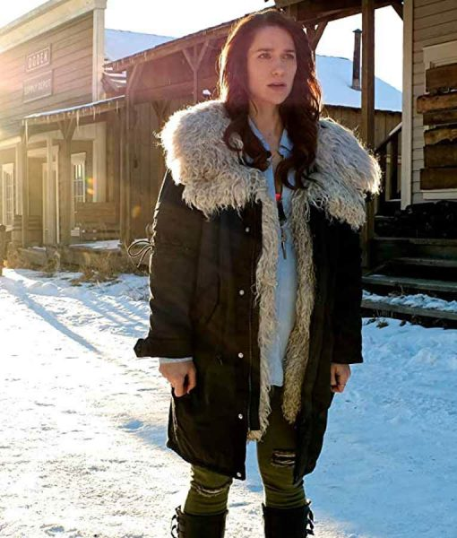 Wynonna Earp Season 04 Melanie Scrofano Coat With Shearling Collar