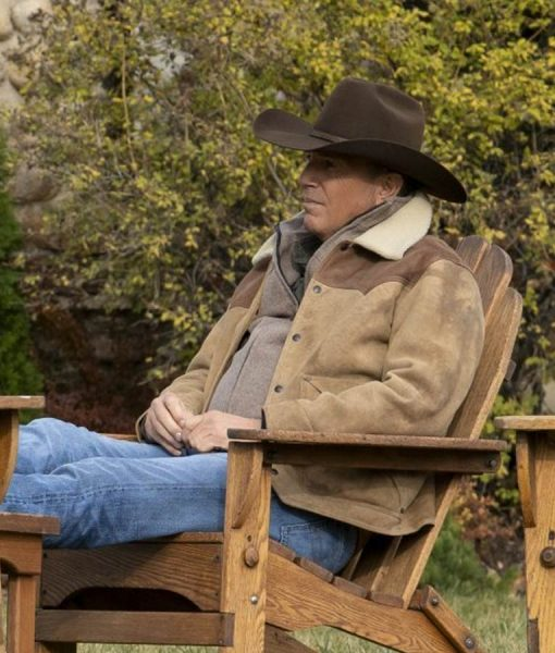 Yellowstone S03 Kevin Costner Shearling Jacket