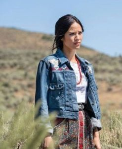 Yellowstone S03 Monica Dutton Denim Blue Jacket