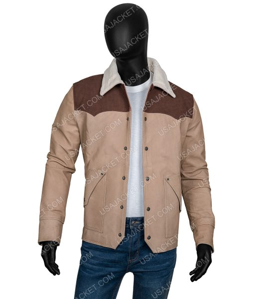 Yellowstone S03 Kevin Costner John Dutton Suede Leather Shearling Jacket