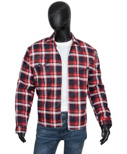 Yellowstone S03 Ryan Bingham Walker Red Plaid Jacket