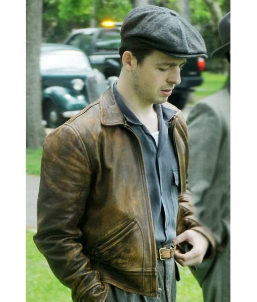 The Plot Against America Distressed Brown Leather Jacket