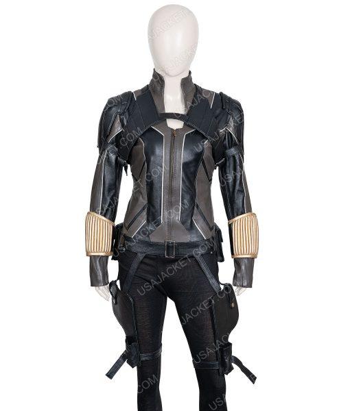 Black Widow 2021 Leather Jacket