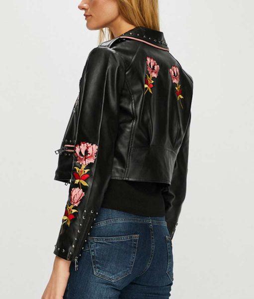 Carla Roson Elite S02 Ester Exposito Embroidered Leather Jacket