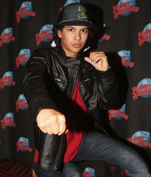 Cobra Kai Xolo Mariduena Black Leather Planet Hollywood Jacket