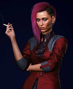 Cyberpunk 2077 V Female Maroon Jacket