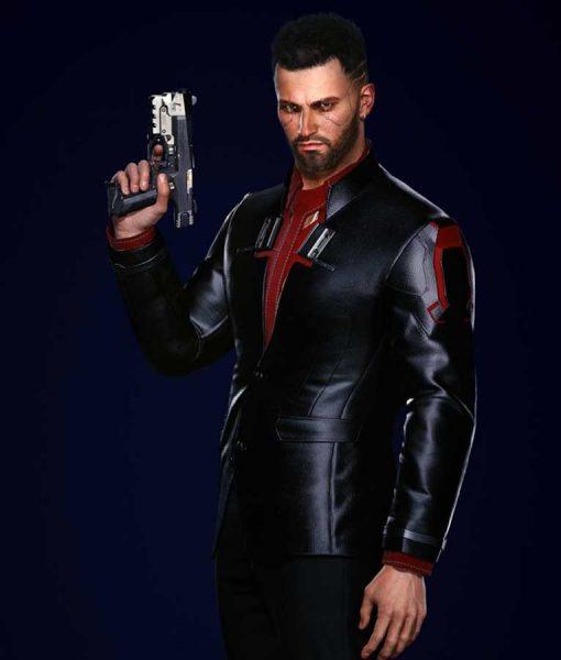 Cyberpunk 2077 V Male Black Blazer