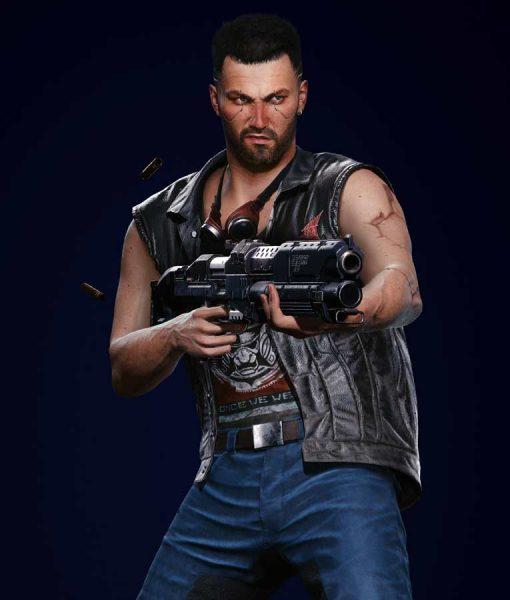 Cyberpunk 2077 V Nomad Black Leather Vest