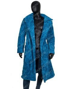 Justin Bieber fur trench coat