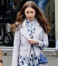 Emily in Paris Lily Collins Leather Jacket