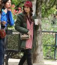 Emily in Paris Lily Collins Emily Green Mid-Length Coat With Hood