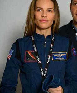 Away, Hilary Swank Blue Uniform Jacket