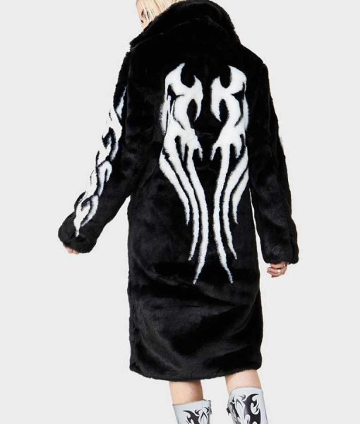 Fallen Angel Black Fur Coat
