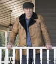 Jeffrey Donovan Fargo Dodd Gerhardt Leather Jacket With Shearling Collar