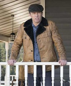 Jeffrey Donovan Fargo Dodd Gerhardt Leather Jacket With Shearling Collar