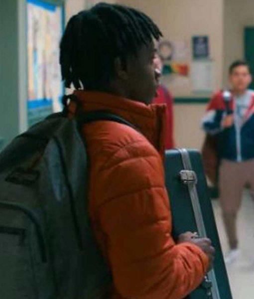 Owen Williams Grand Army Jaden Jordan Orange Puffer Jacket
