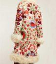 Hannah Embroidered Shearling Coat