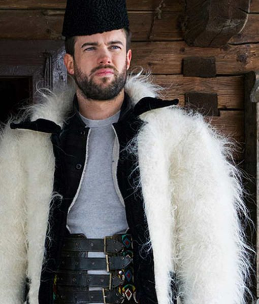 Jack Whitehall Travels With My Father S04 Jack Whitehall White Fur Jacket
