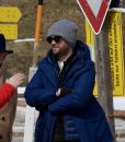 Jack Whitehall Travels With My Father blue Hooded Coat