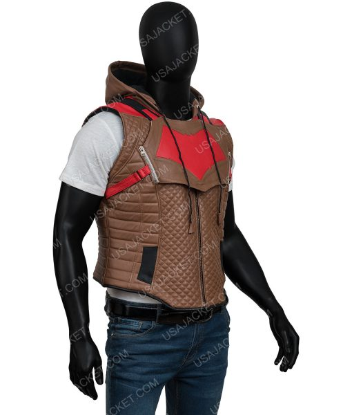 Jason Todd Gotham Knights Brown Leather Vest
