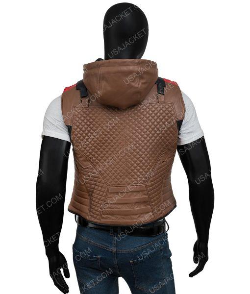 Jason Todd Gotham Knights Red Hood Brown Leather Vest