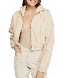Julie And The Phantoms Julie Corduroy Crop Hooded Jacket