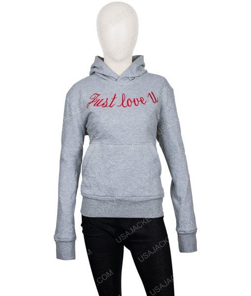 Just Love U Grey Pullover Hoodie
