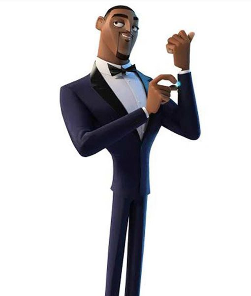 Spies In Disguise Will Smith Blue Tuxedo Suit