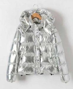 Metallic Puffer Jacket