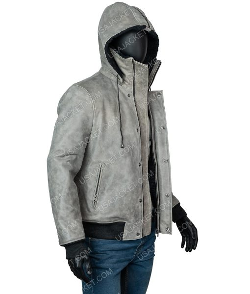 Power Book II Ghost Tariq St. Patrick Grey Hooded Jacket
