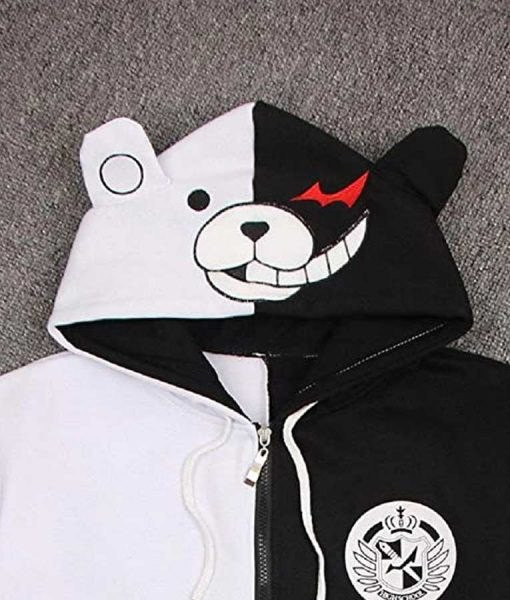 Monokuma Hoodie Danganronpa Black & White Bear Jacket