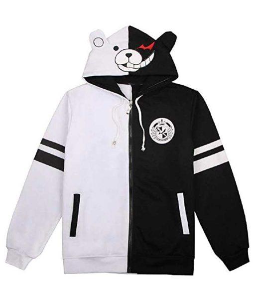 Monokuma Hoodie Danganronpa Black & White Bear Jacket
