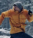 Never Hike In The Snow Mark Hill Yellow Jacket With Hood