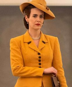 Sarah Paulson Nurse Mildred Ratched Yellow Blazer Coat