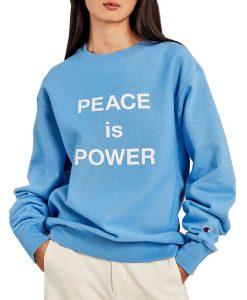 PEACE Is POWER Crewneck Sweatshirt