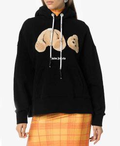 Bear Print Hoodie