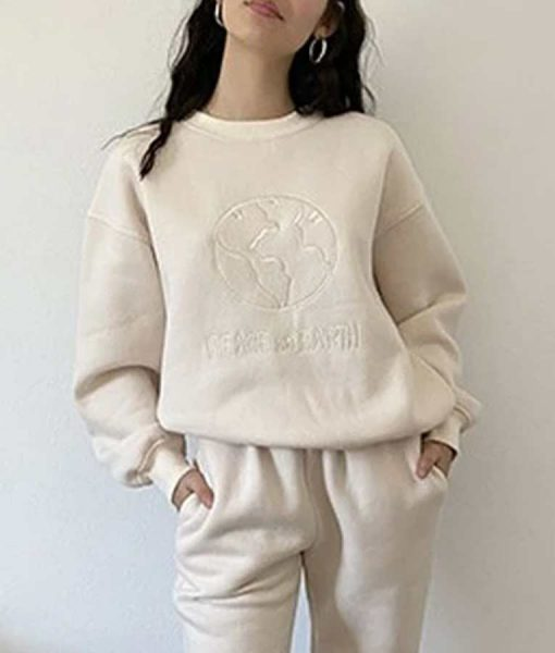 Peace on Earth Embroidery Sweatshirt