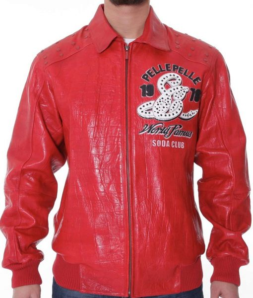Pelle Pelle Soda Club Red Leather Jacket
