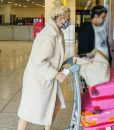 Pixie Lott White Teddy Bear Coat