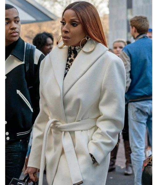 Power Book II Ghost Mary J. Blige White CoatPower Book II Ghost Mary J. Blige White Coat