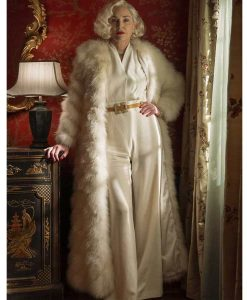 Lenore Osgood White Ratched Fur Coat