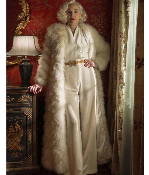 Ratched Lenore Osgood Fur Long Coat
