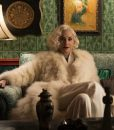 Ratched Sharon Stone White Fur Coat