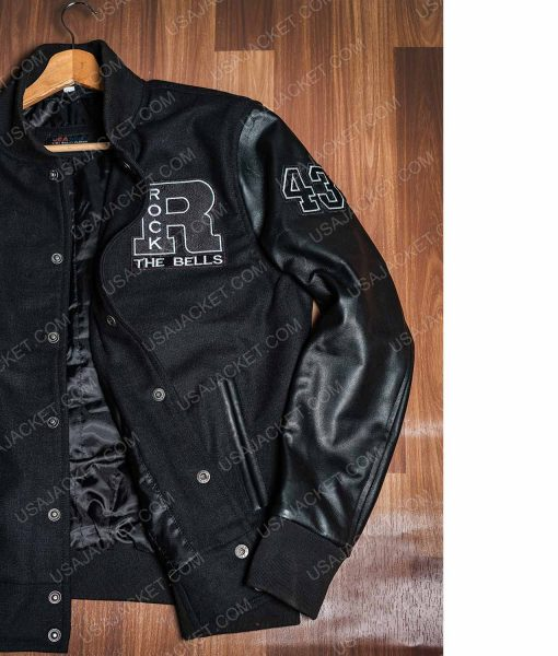 Rock The Bells LL Cool J Black Letterman Jacket
