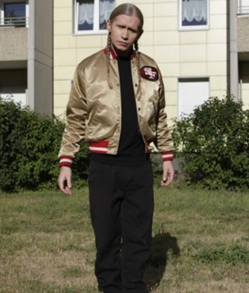 Roman Geike Gold Bomber Jacket